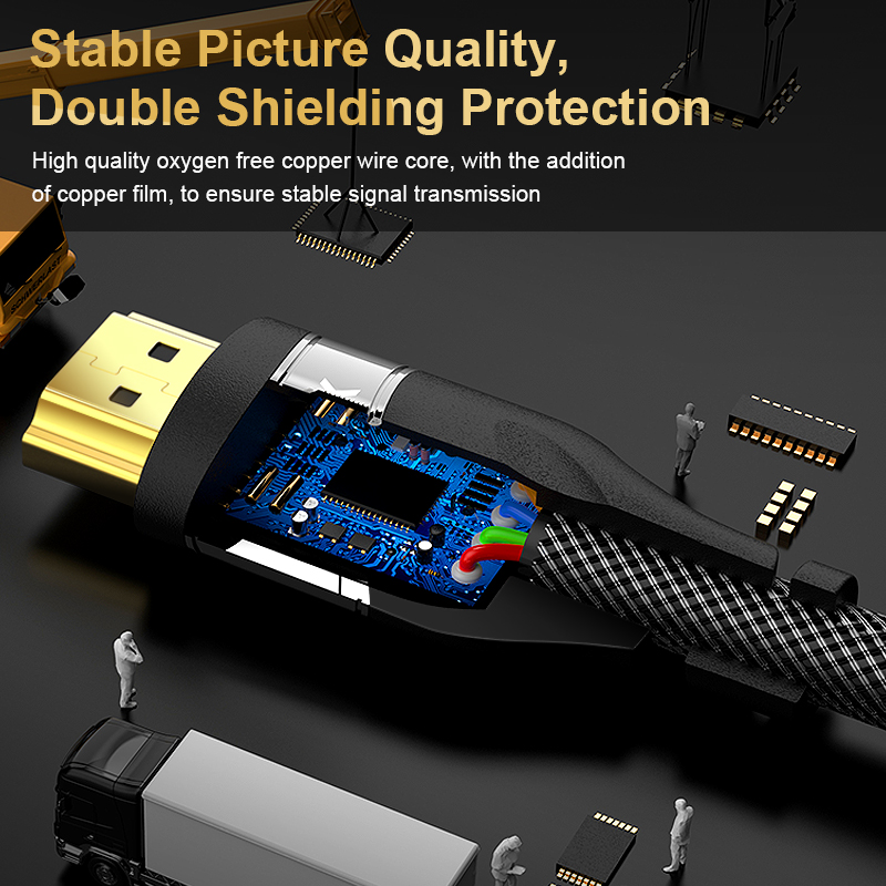 cheapest HDMI 2 1 cable 4K 120HZ hdmi High Speed 8K 60 HZ UHD HDR 48Gbps cable HDMI Ycbcr4 4 4 Converter for PS4 HDTVs Projectors