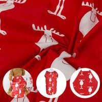 Tela de algodón con estampado de renos de Navidad, Sarga de ciervo para ropa de cama de manualidades, costura de retazos, Vestidos