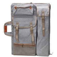 Художественный портфель, сумка, чехол, рюкзак для рисования, сумка на плечо с молнией, плечевые ремни для художника, художника, студентов, произведение искусства, серый