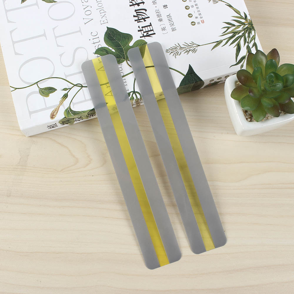 10 Pcs Reading Guide Strips Highlighter Colored Overlays Bookmark Read Strips For Dyslexia People Transparent PVC Gift for Child