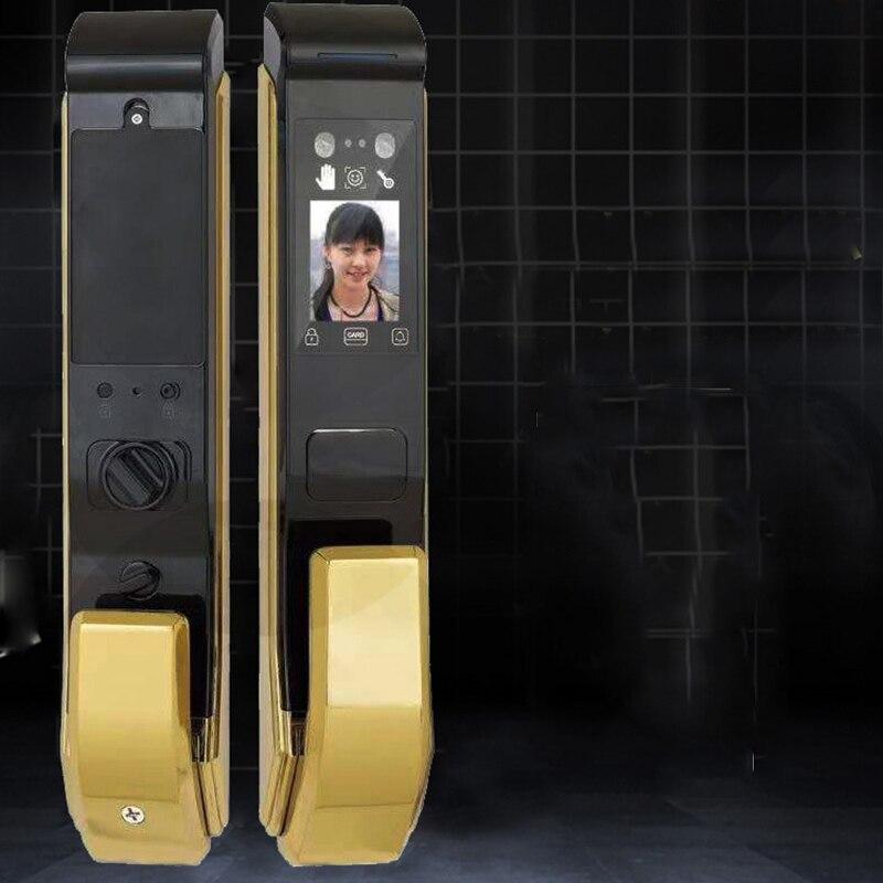 5 In 1 Biometric Smart Face Recognition Door Lock Fingerprint Smart Password Anti-theft Automatic Electronoic Lock