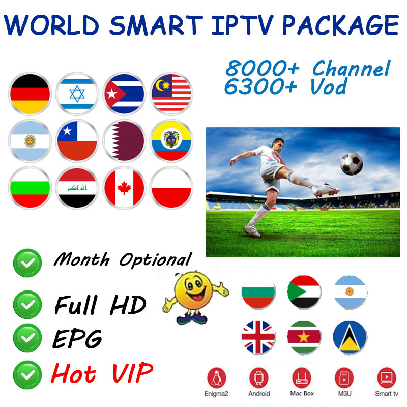 World IPTV Subscription For Italy Nordic Dutch Greece Belgium French Arabic Turkey IPTV M3U For Android Ssmart TV