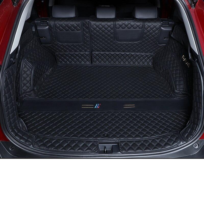 Lsrtw2017 alfombra de cuero para maletero de coche forro de carga para toyota rav4 2019 2020 2021 xa50 accesorios alfombra interior de auto