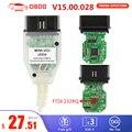 Диагностический кабель MINI VCI V15.00.028 TIS Techstream OBD2 интерфейс сканера для TOYOTA FTDI FT232RQ MINI-VCI J2534 OBDII OBD2