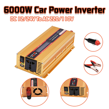6000W Car Power Inverter 12/24V To AC 220/110V Converter USB Modified Sine Wave Overload Protection High Conversion Sturdy