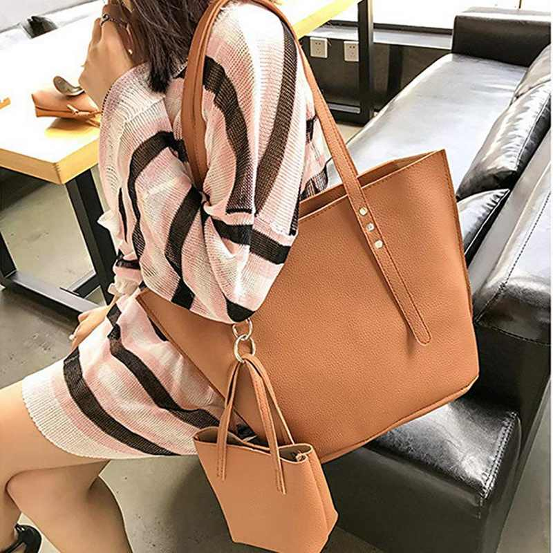 Bolsa feminina de couro de cera de óleo bolsas de mão de luxo senhora com bolsa de bolso mensageiro grande tote sac bols