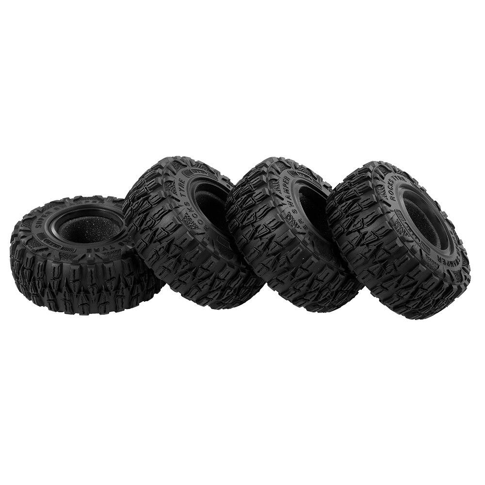 4 pièces AX6021 2.2 pouces RC voiture roue pneu RC pièces de voiture pour 1/10 Traxxas Hsp Redcat Rc4wd Tamiya Axial scx10 D90 Hpi chenille
