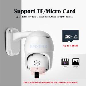 Image 5 - Bmsoar caméra de surveillance extérieure PTZ IP WIFI HD 2MP/1080P, dispositif de sécurité sans fil, étanche, avec codec H.264 P2P, système infrarouge (60M), Audio bidirectionnel, CamHi