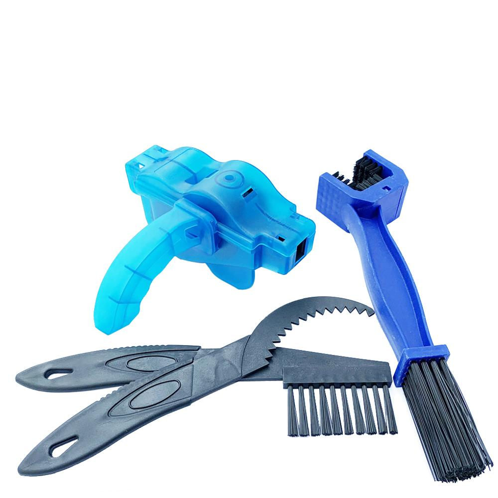Bicycle Chain Cleaner Cycling Bike Machine Brushes Scrubber Wash Tool Cleaning Kit Mountaineer Bike Chain Cleaner Washer