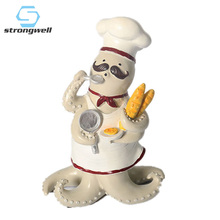 Strongwell Small Octopus Chef Mediterranean Wine Cabinet Decoration Props Home Accessories  Cartoon