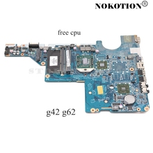 Nokotion Laptop Moederbord Voor Hp G42 G62 Serie DA0AX2MB6E1 592809-001 Moederbord Socket S1 DDR3 Gratis Cpu