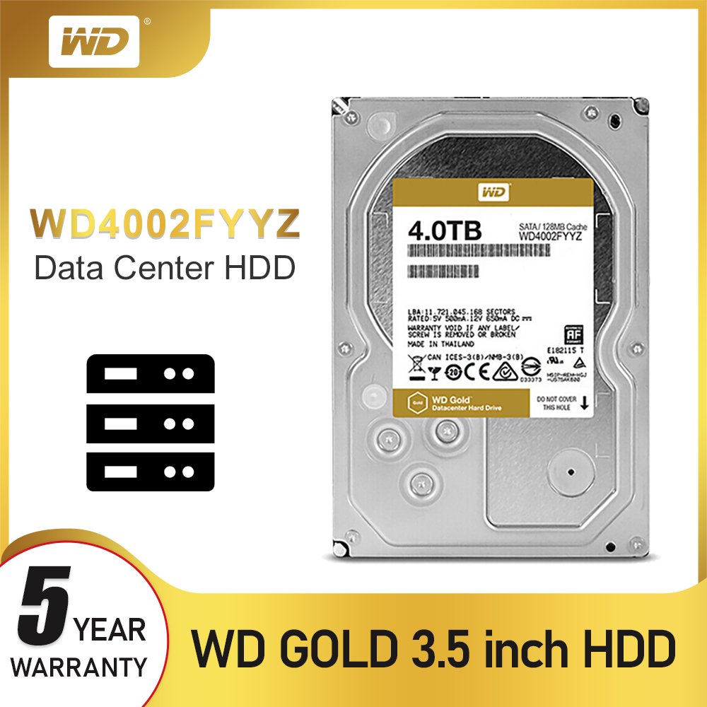 WD Gold 4TB Internal Hard Drive Disk <font><b>3.5</b></font>