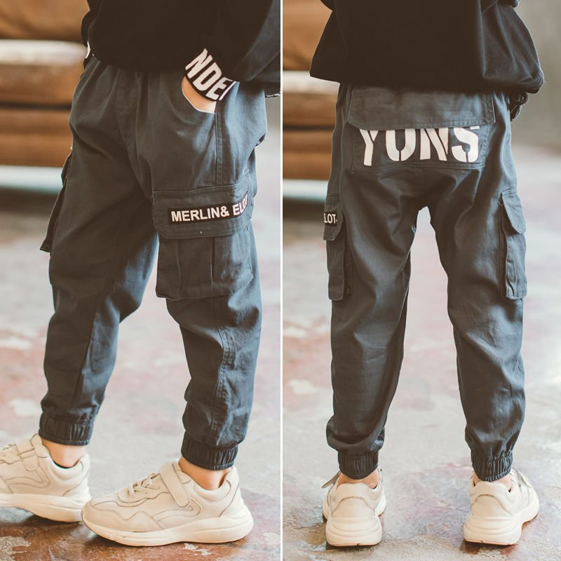 Kid Pants For Boys cargo Pant Letters clothes Kids Pants Casual Kids Clothes Winter Teenage Boys Clothing For 4 6 8 12 14 Years 1