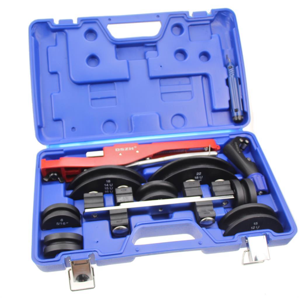 Купить с кэшбэком Combination of copper pipe bender CT-999 manual bending machine 6-22mm air conditioning refrigeration tools
