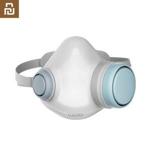 Image 1 - Youpin Woobi לשחק למבוגרים מסכת 4 שכבה מגן אחד דרך שסתום פנים מסכת PM2.5 אוויר זיהום מסכת Dustproof לנשימה