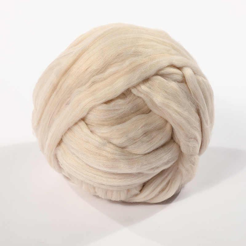 50g moelleux doux fibres de laine teints hauts en laine Roving pour bricolage aiguille feutrage filature fournitures de couture