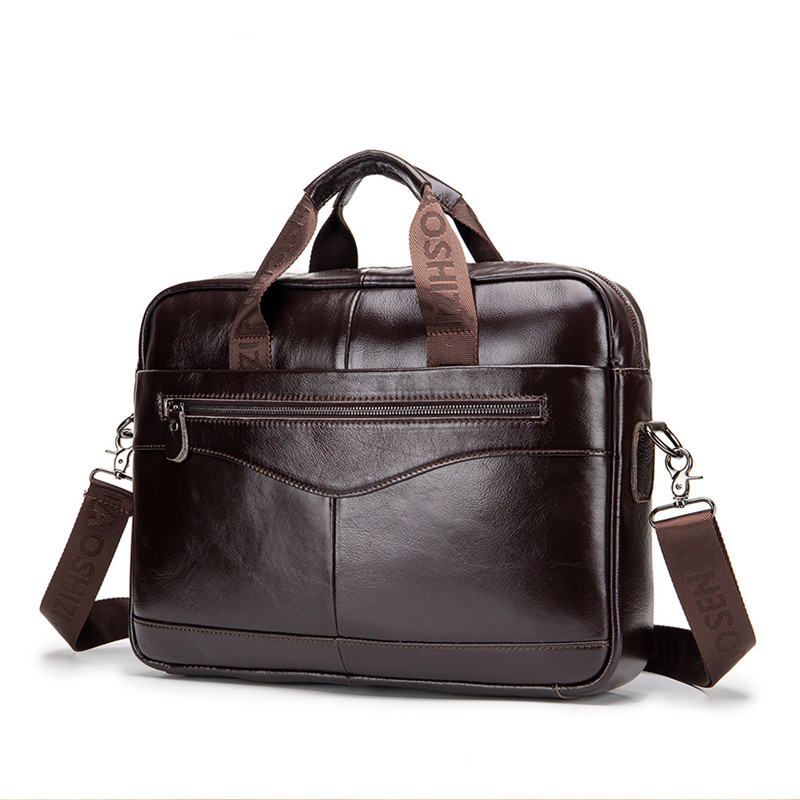 2019 Hot Men Leather Black Briefcase Business Handbag Messenger Bags Male Vintage Shoulder Bag Men's Large Laptop Travel Bags
