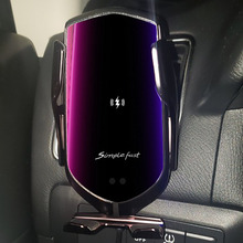R1 Car Wireless Charger For IPhone X XR XS 8 Plus Galaxy S10 S9 S8 Smart Automatic Clamping Fast Charge Air Vent Phone Holder