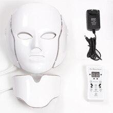 Masque led 7 لون Led قناع الوجه Led الكورية الفوتون علاج للوجه آلة قناع العلاج بالضوء حب الشباب قناع الرقبة Led قناع الجمال