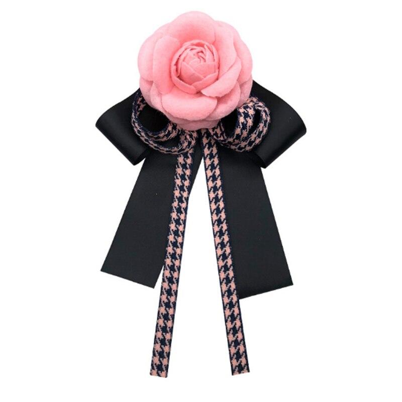 Vintage Spilla Camelia Fabirc Arco Papillon Spilla Nastro Spilli Art Abiti Vestito Decor per Le Donne Del Collare Femminile Cravatta Accessori