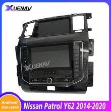Автомобильный радиоплеер для nissan патруль Y62 2014-2020, GPS-навигация, Авторадио, мультимедийный плеер для nissan, автомобильный DVD, двойной HD-экран