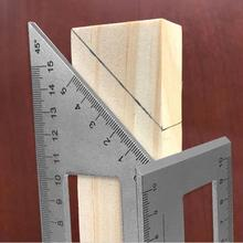 Multifunctional Square Aluminum Alloy 45/90 Degree Gauge Angle Ruler Measuring Woodworking Tool With Gauge Ruler Tools