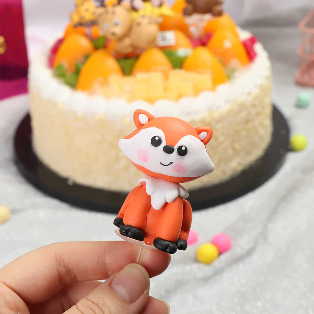 Groovy 1Pcs Birthday Decoration Monkey Giraffe Tiger Lion Cupcake Toppers Funny Birthday Cards Online Alyptdamsfinfo