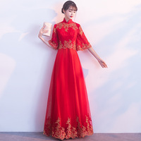 Fashion Lace Qipao Korean Short Sleeve Cheongsam Goddess 2018 Summer Traditional Modern Chinese Wedding Dress Women China Qi Pao