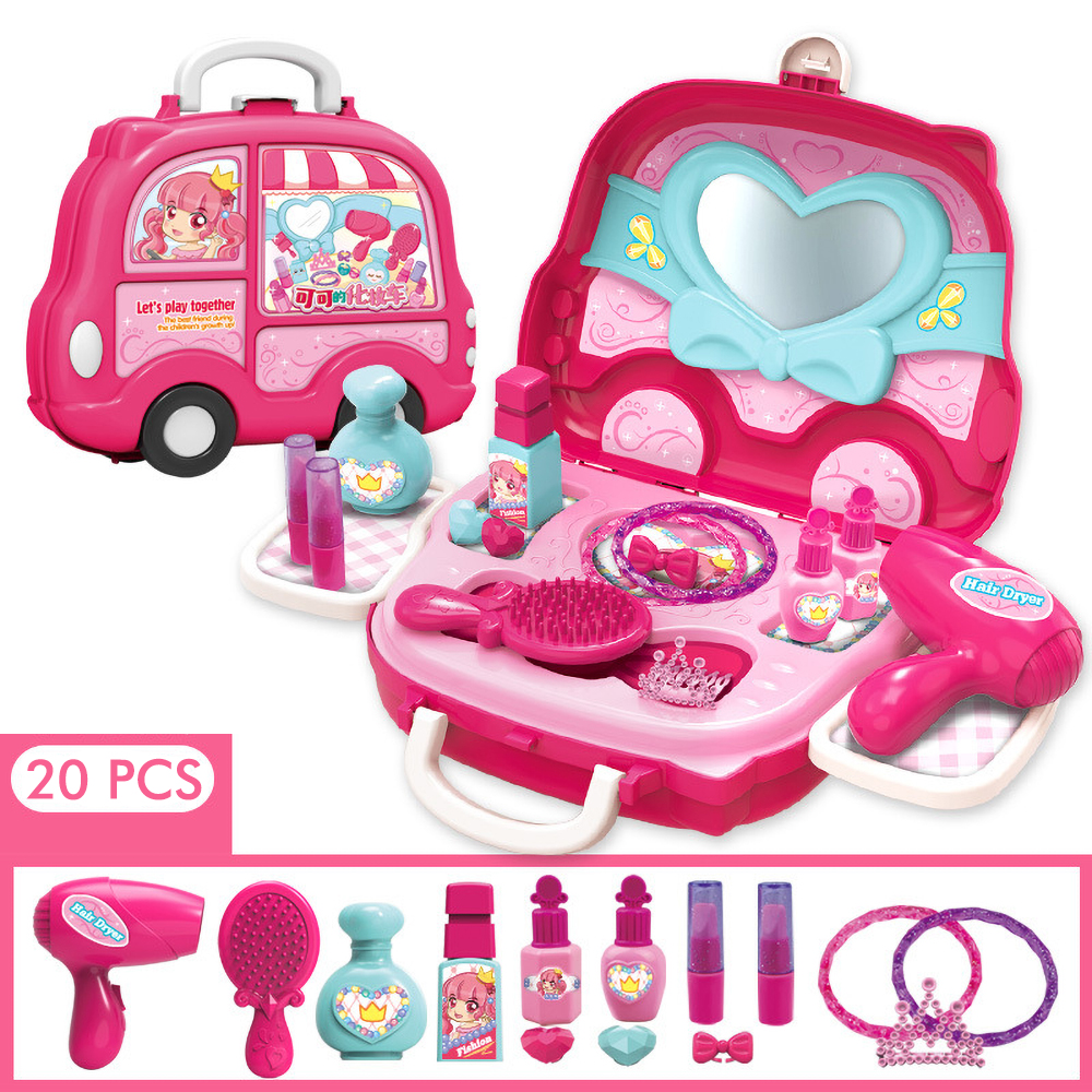 Girls Toys Princess Kids Makeup Pretend Play Trousse Maquillage Femme Maquillaje Niña Princesas Toys For Girls Maquillage Enfant