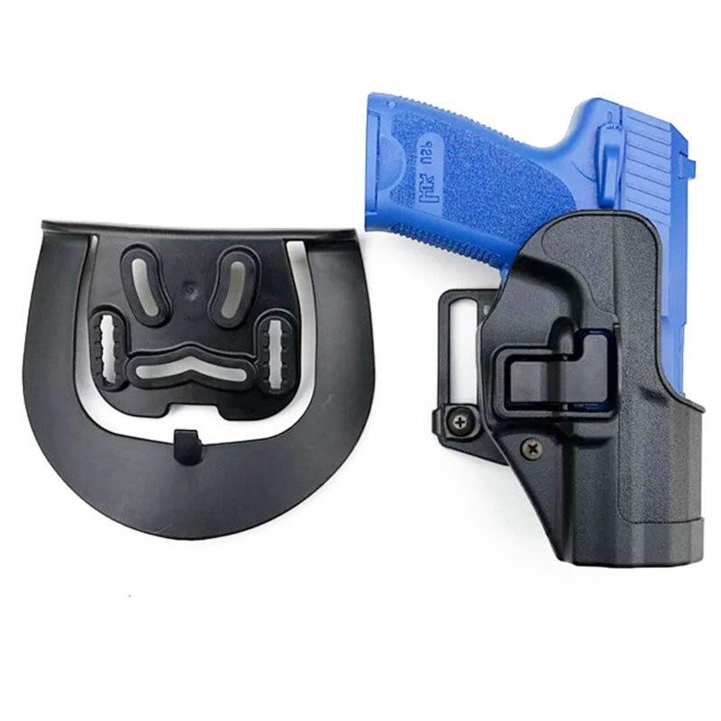 Coldre para hk Militar Tático Revólver Compact Caça Airsoft Arma Coldre Pistol Belt Loop Cintura Paddle Coldres Case Usp
