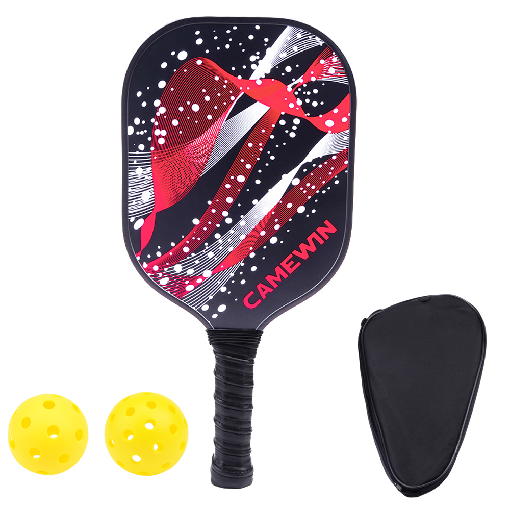 New Pickleball Paddle Men Women Carbon Fiber Beat Racquet Honeycomb Polymer Composite Pickleball Racket With Bag