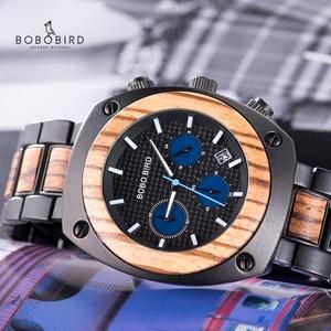 Image 2 - BOBO BIRD Wood Watch Men Stopwatches Handmade Relogio Masculino Japan Movement Quartz Wristwatch Gift for Male erkek kol saati