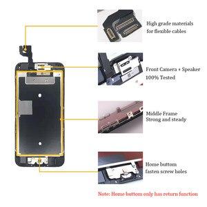 Image 4 - Kompletny wyświetlacz LCD lub komplet lub ekran dla iphone 5S 6S 7 7P lub dla iphone 6 z przyciskiem Home i przednim aparatem