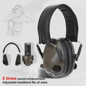 Image 2 - Militaire Tactische Oorbeschermer Ruisonderdrukking Jacht Schieten Hoofdtelefoon Anti Noise Oor Verdedigers Gehoorbeschermer