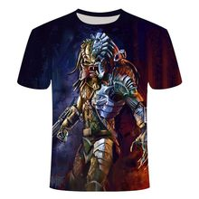 Interplanetary predator movie 3D print t shirt Predator 6XL men/women Short sleeve t-shirt Harajuku streetwear Couples Tops Tees