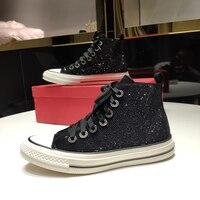 New high top sneakers woman vulcanize shoes chaussures de marque femme de luxe nouvelle snakersy buty