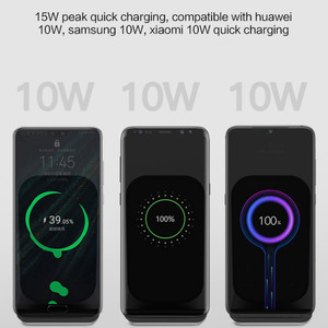 Image 2 - Qi Wireless Charger Stand 15W Qi Fast Charge Phone Stand Multifunctional Wireless Charging Pad For iPhone 12 Pro Samsung S20 10