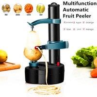 Multifunction Stainless Steel Electric Peeler Automatic Fruit Peeler Vegetable Cutter Three Spare Blades Potato Peeler Machine|Peelers & Zesters| |  -