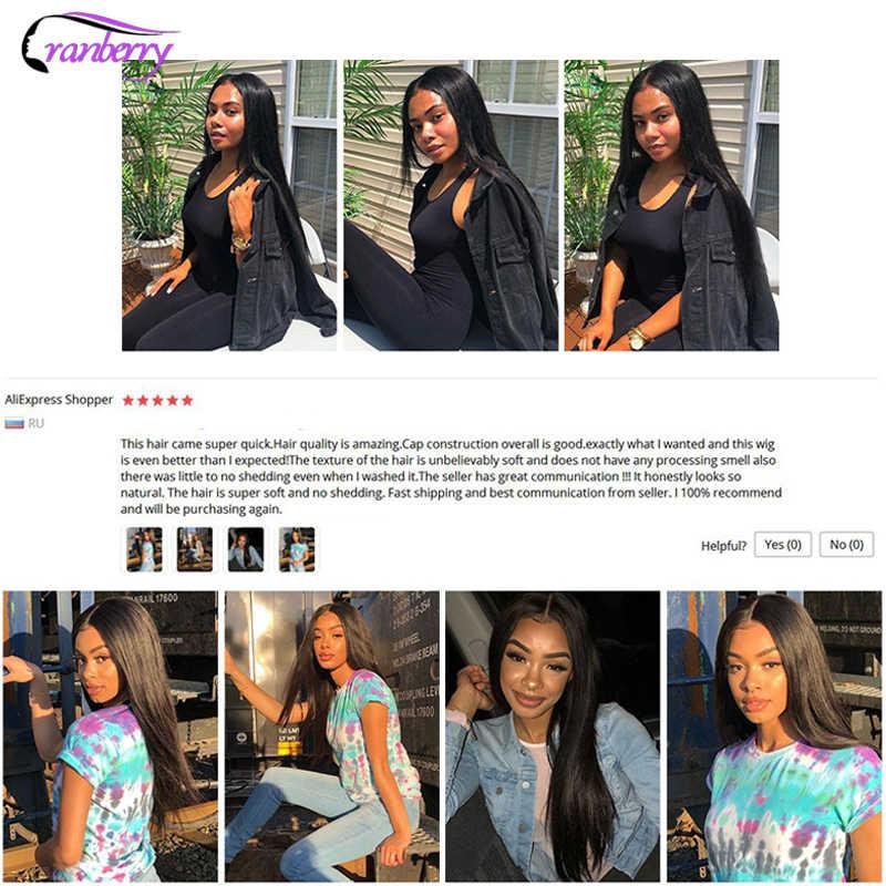 Cranberry Haar 4X4 Sluiting Pruik 100% Remy Haar Braziliaanse Pruik Vetersluiting Pruik Straight Menselijk Haar Pruiken Voor Zwarte Vrouwen 10-26 Inch