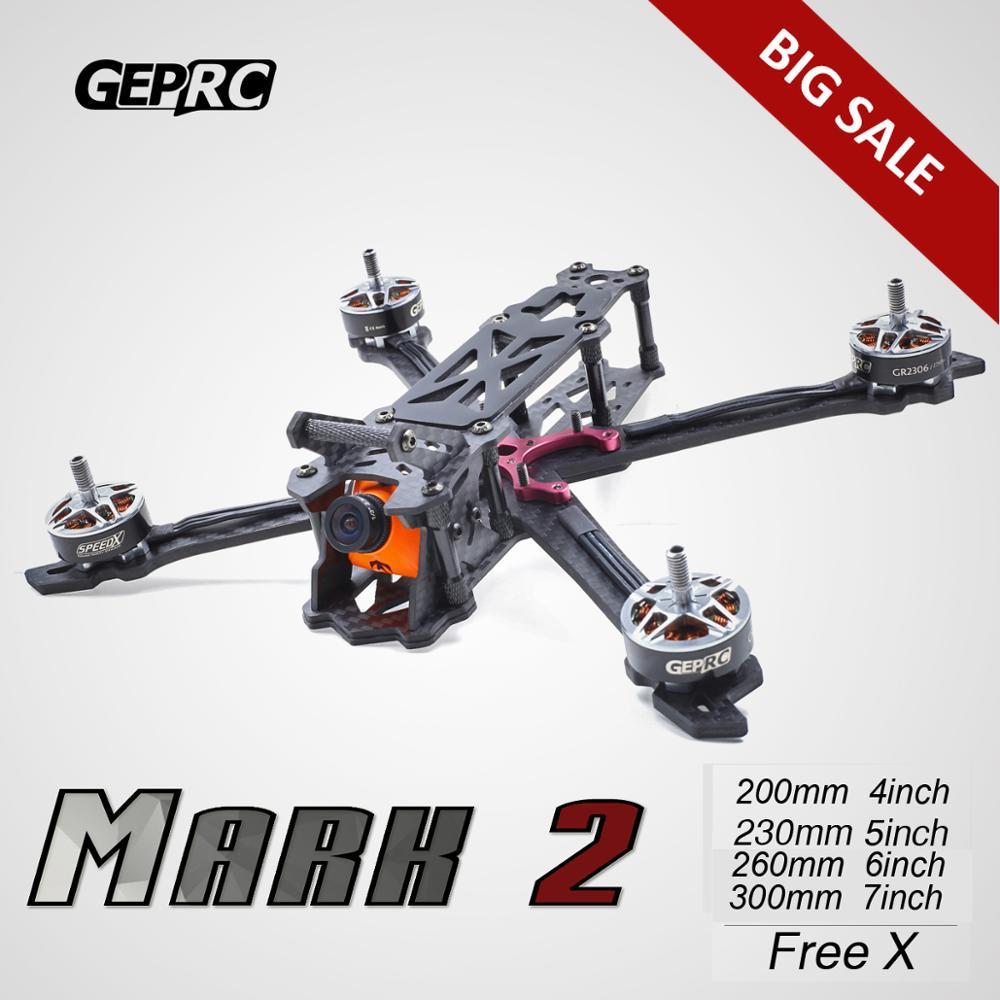 """Mark2 marca 200mm 230mm 260mm 300mm FPV Racing Drone libre X Quadcopter GEPRC GEP 4"""" marco duradero de 5 """"6"""" 7 """"30% de descuento-in Partes y accesorios from Juguetes y pasatiempos    2"""