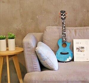 Image 5 - جيتار من Enya 26 بوصة القيثارة لهب القيقب 23 بوصة الأزرق القيثارة الحفل القيثارة هاواي الغيتار 4 سلسلة الآلات الموسيقية
