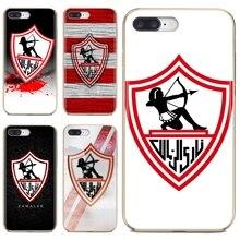 Egypt Zamalek SC Logo Silicone Case For iPhone 10 11 12 Pro Mini 4S 5S SE 5C 6 6S 7 8 X XR XS Plus Max 2020