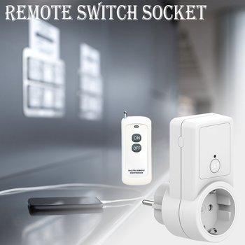 Uniwersalna moc 2300W Mini Smart EU 433mhz bezprzewodowy pilot do inteligentnego domu kompatybilny z Broadlink RM4 Pro tanie i dobre opinie NONE CN (pochodzenie) Socket Wbudowane w ścianę 12V (one 23A12V battery) 43392MHz1 2 2 220-240V 50Hz 2300W (resistive load)