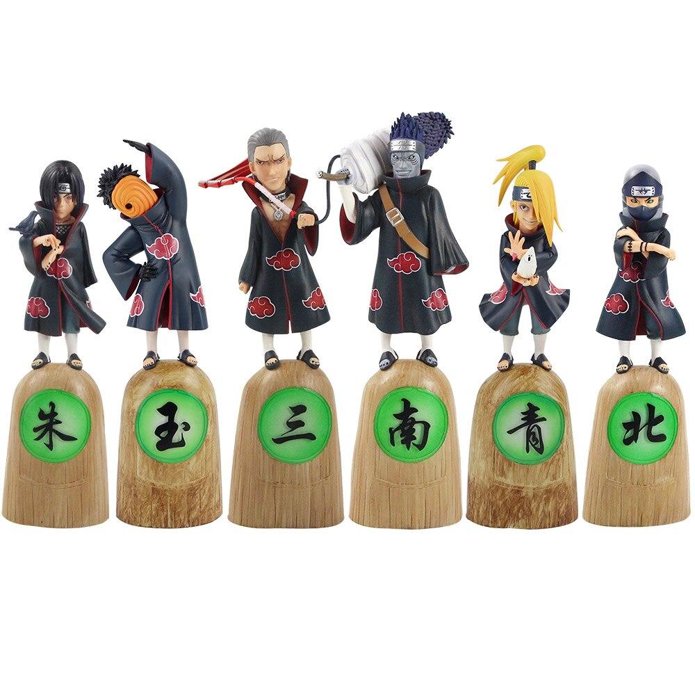 23-26cm Anime Naruto Akatsuki Uchiha Itachi Hoshigaki Deidara Kakuzu Hidan Obito PVC Action Figure Model Toys 1