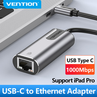 Vention adattatore Ethernet USB tipo C adattatore Lan da USB C a RJ45 per MacBook Pro scheda di rete Samsung Galaxy S9 tipo C Ethernet USB