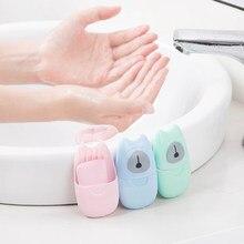 3 cores mini viagem portátil papel de lavagem da mão descartável sabão de papel flocos de sabão cuidados com a pele