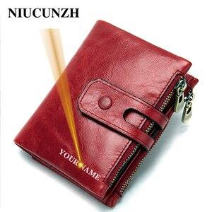 NIUCUNZH кошелек для женщин; Для девочек; Короткие ботинки из натуральной кожи, кошельки для леди женская маленькая сумочка для денег компактны...