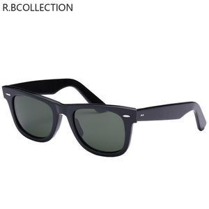 Image 2 - Gafas de sol con lentes de cristal para hombre y mujer, lentes de sol unisex con diseño Vintage, adecuadas para conducir, gafas para nadar reflectantes, cuadradas y elegantes