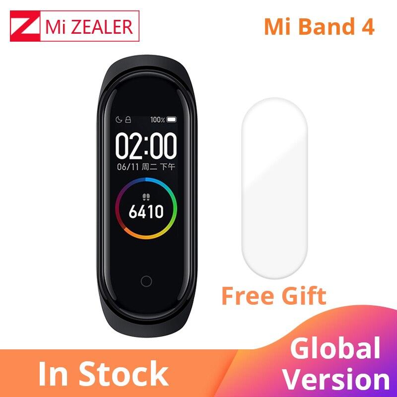2019 versión Global Xiaomi mi Band 4 pulsera multilingüe fitness pulsera 135mAh Bluetooth 5,0 reloj inteligente CARLYWET 22mm alta calidad 316L Acero inoxidable correa de reloj de plata correas para La Bahía Negra Tudor