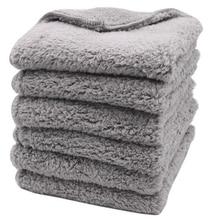 6 шт. 500 г/см 40X40 см супер толстые плюшевые безкройные полотенца из микрофибры уход за автомобилем чистящие салфетки микрофибра полировка детализация сушка